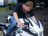 Asmeninio arch. nuotr./Justino Lapatinsko svajonėse – motociklas.