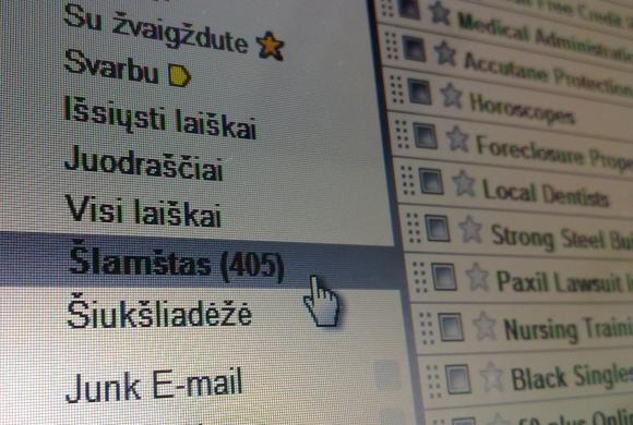 Nepageidaujami elektroniniai laiškai – ne tik Lietuvos, bet ir viso pasaulio problema.
