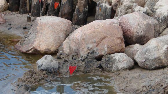 Šventojoje aptikta dešimtys minų.