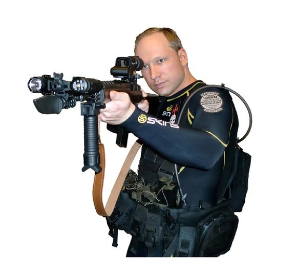 Tokią nuotrauką Andersas Behringas Breivikas įdėjo internete žudynių dieną