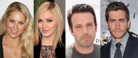 AOP nuotr./Anna Kournikova, Madonna, Benas Affleckas, Jake'as Gyllenhaalas