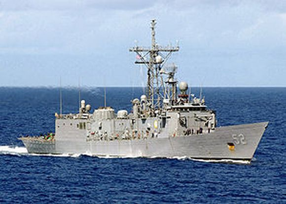 Jungtinių Amerikos Valstijų Karinio laivyno karinis laivas.