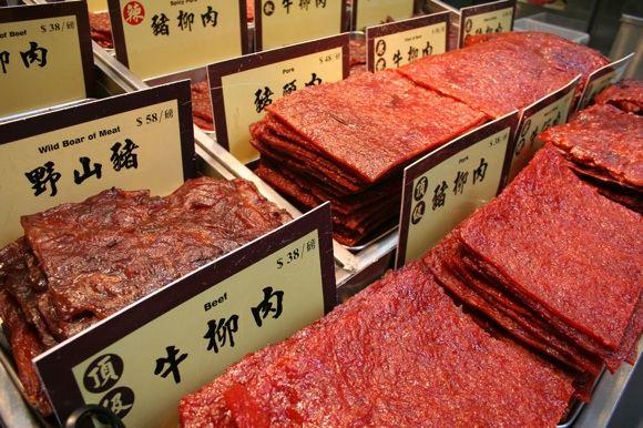 123rf.com nuotr./Vytinta mėsa Makau turguje, Kinijoje