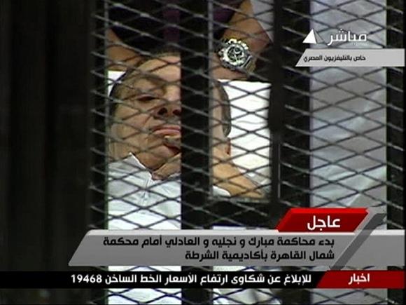 Nuverstas Egipto prezidentas Hosni Mubarakas