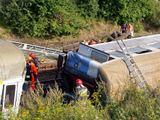 """AFP/""""Scanpix"""" nuotr./Traukinio avarija Lenkijoje"""
