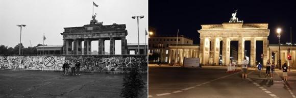 Reuters/Scanpix nuotr./Brandenburgo vartai 1989-aisiais ir dabar