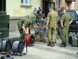 Tauragės policijos nuotr./Bombos neutralizavimo operacija Tauragėje
