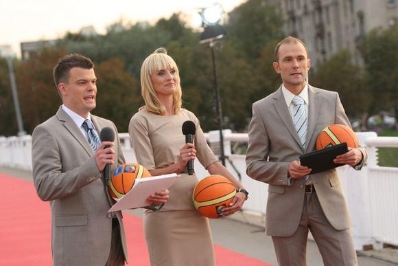 Ia kairės: Mindaugas Rainys, Vlada Musvydaitė ir Robertas Petrauskas