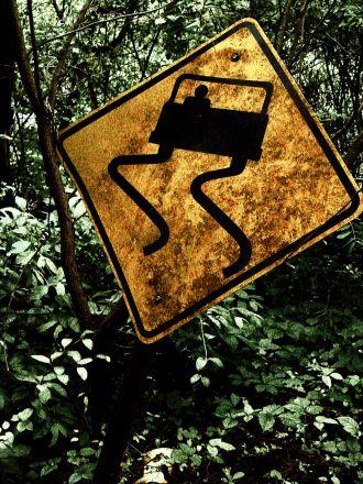 Atsargiai! Slidus kelias
