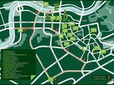 Organizatorių nuotr./GREEN NIGHT autobuso maršrutas