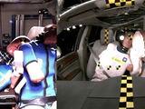 Gamintojo nuotr./Palyginimas: kairėje – automobilis be centrinės oro pagalvės, dešinėje – su