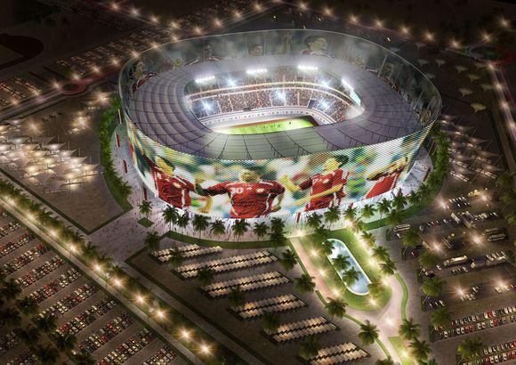 Scanpix nuotr./Kataro stadiono vizualizacija