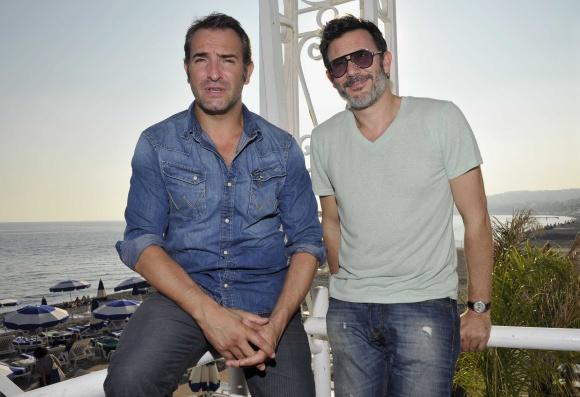Jeanas Dujardinas (kairėje) ir Michelis Hazanavicius