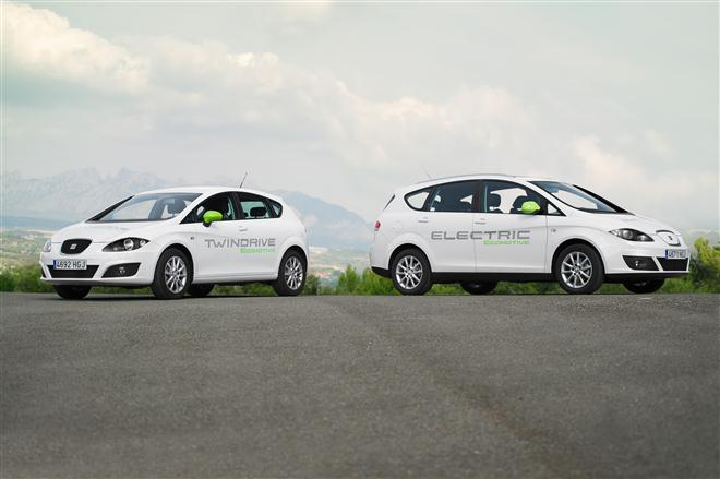 """SEAT Leon TwinDrive Ecomotive"" ir ""Altea XL Electric Ecomotive"""