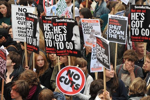 Studentų protestas Londone