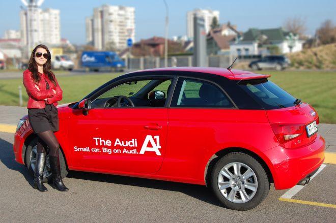 """Joana Survilaitė ir """"Audi A1"""""""