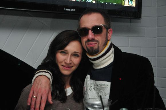 Linas Adomaitis su žmona Irma
