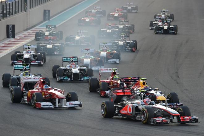 Abu Dabio GP lenktynių startas