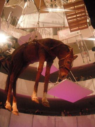 manoMUZIKA.lt nuotr./MGMT koncertas vyko Maurizzio Cattelano parodos fone