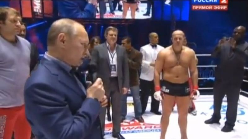 Rusijos premjeras Vladimiras Putinas nušvilptas per sporto renginį