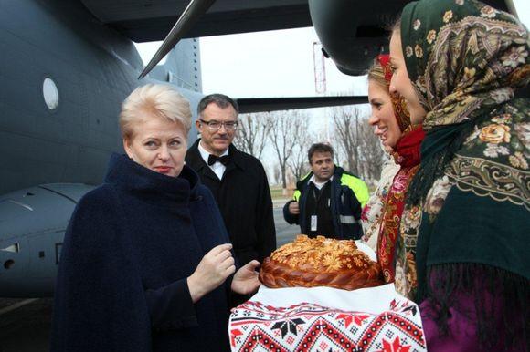 Pasak Prezidentės, Lietuva tvirtai remia Ukrainos pasirinktą europinės integracijos kryptį ir pasirengusi padėti pasidalindama savo patirtimi, jei Ukraina to norės.