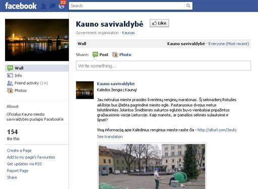 """Kaunas įžengė į """"Facebook"""""""