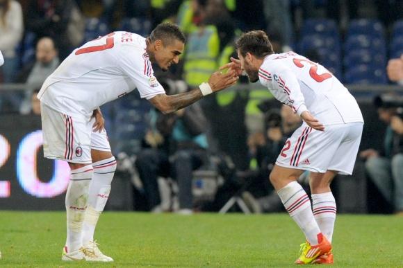 """""""Milan"""" futbolininkų džiaugsmas."""