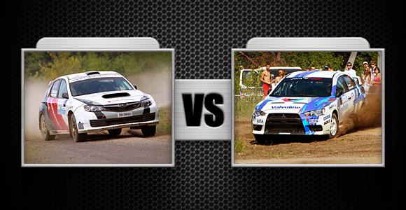 "Kova Nr. 5 ""Subaru Impreza WRX STI"" ir ""Mitsubishi Lancer Evolution"""