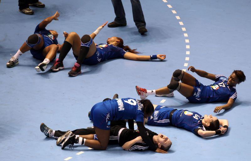 Prancūzijos rinktinės džiaugsmas po pusfinalio