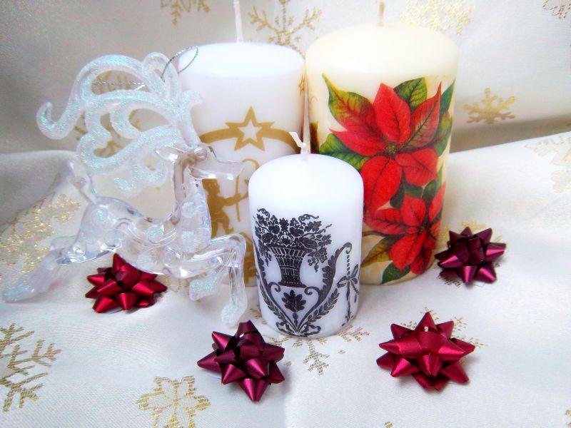 Kalėdų dovanos idėja – dekoruota žvakė