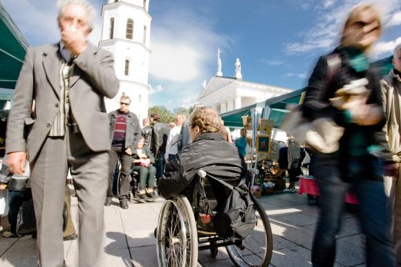Vilnius nėra draugiškas miestas neįgaliesiems.