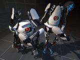 """Thinkwithportals.com nuotr./Žaidimo """"Portal 2"""" pagrindiniai veikėjai"""