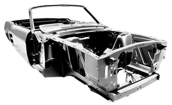 Gamintojo nuotr./Naujas aeaiasdeaimtųjų Ford Mustang kėbulas