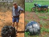 """universetoday.com nuotr./2008-aisiais panašių mistiškų """"dangaus rutulių"""" buvo rasta Brazilijoje ir Australijoje."""