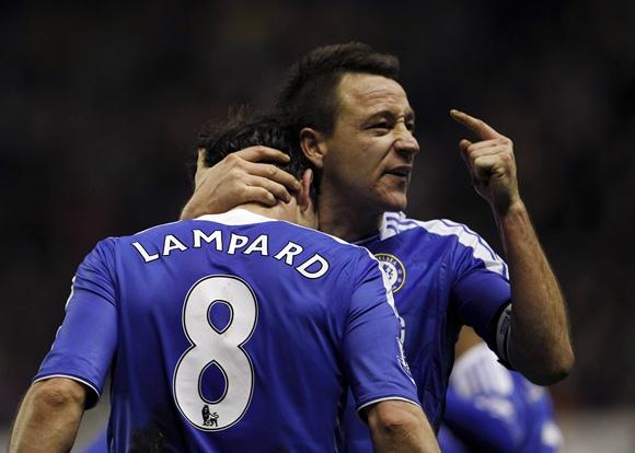 Frankas Lampardas ir Johnas Terry
