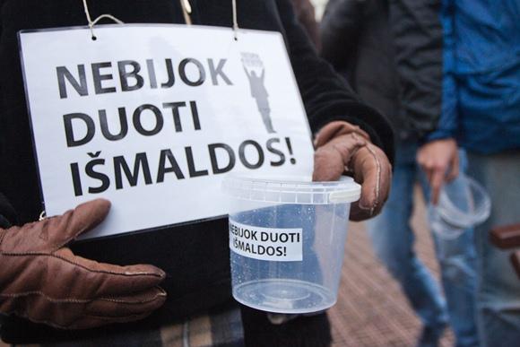 Elgetavimo akcija Vilniuje