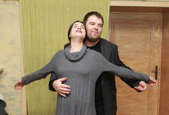 Irmanto Gelūno/15min.lt nuotr./Asmik Grigorian ir Vaidas Vyaniauskas