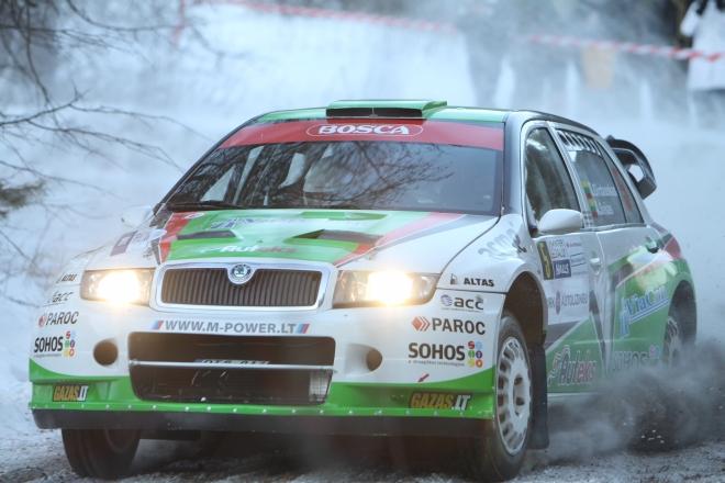 """Saulius Girdauskas, Audrius Šošas, """"Škoda Fabia WRC"""""""