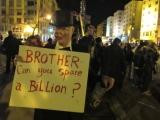 AFP/Scanpix nuotr./Protesto dalyvis