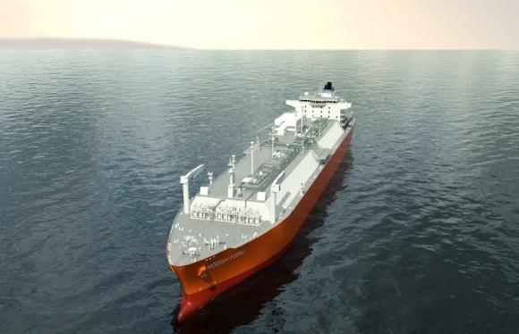 Klaipėdos naftos nuotr./Laivas-saugykla su dujinimo įrenginiu