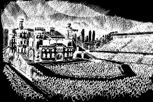 Lady Gaga/Twitter nuotr./Taip turėtų atrodyti Lady Gagos naujojo koncertinio turo scena.