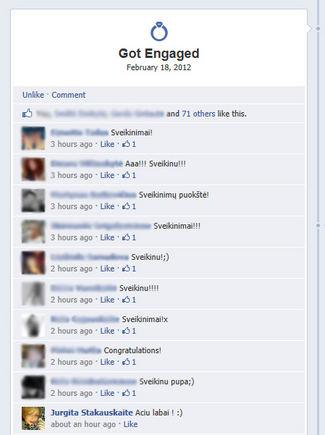 """""""Facebook"""" nuotr./Jurgita Stakauskaitė padėkojo draugams už sveikinimus"""