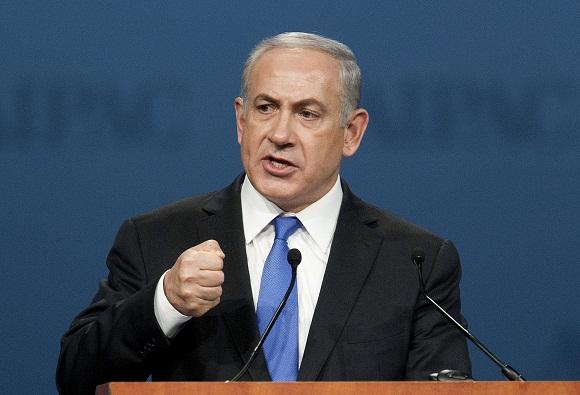Izraelio premjeras Benjaminas Netanjahu kreipiasi į AIPAC delegatus