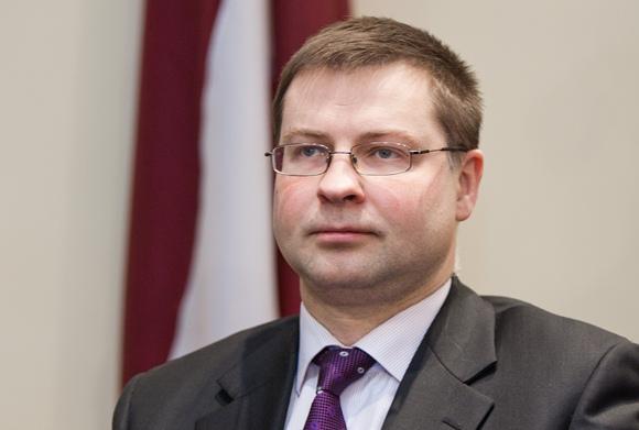 Latvijos premjeras Valdis Dombrovskis