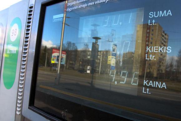 Eriko Ovčarenko/15min.lt nuotr./Benzino kainos 2012 m. kovo 14 d.