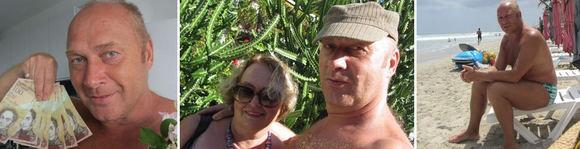 Asmeninio albumo nuotr./Jurijaus Smorigino ir jo žmonos Dalios atostogos Margaritos saloje