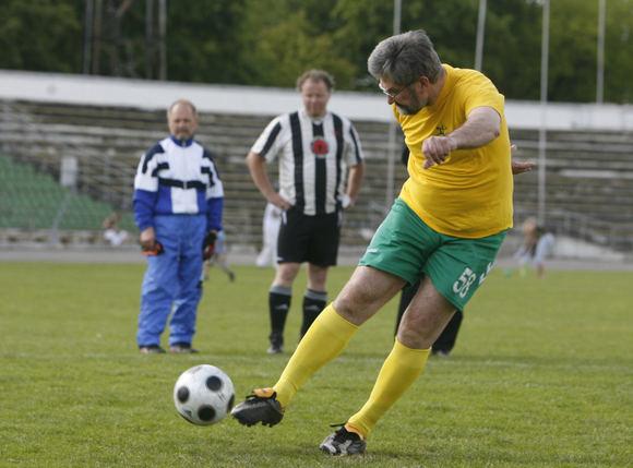15min archyvo nuotr./G.Babravičius į futbolą pasuko nuvargintas nesibaigiančių pralaimėjimų politikoje.