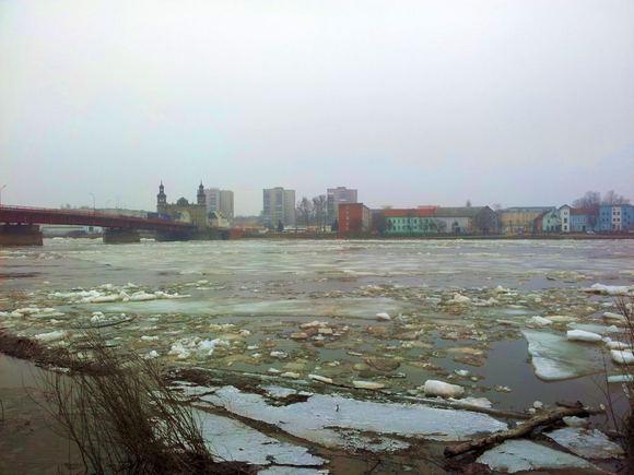 15min.lt skaitytojo Rolando nuotr./Ledo lytys ties Panemunės tiltu