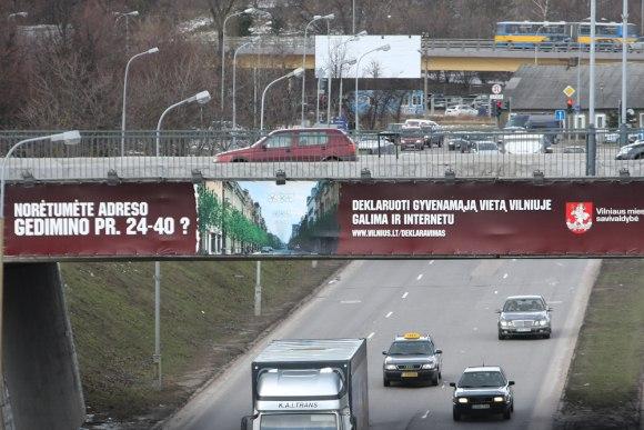 Tokia reklama jau priviliojo 585 vilniečius deklaruoti savo gyvenamąją vietą būtent čia.