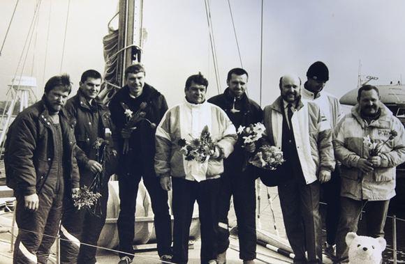 J. Andrijauskaitės nuotr./Istorinė žygio nuotrauka, iaplaukiant į kelionę.